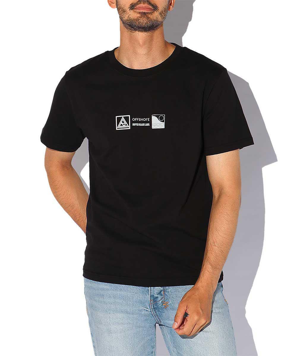 【ブラックレーベル】オフショア別注 ロゴプリントクルーネックTシャツ