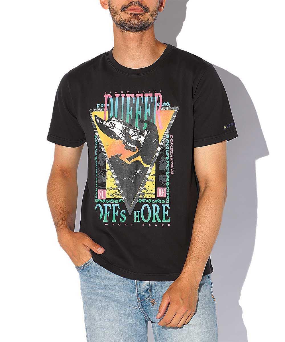 【ブラックレーベル】オフショア別注 クラシックプリントクルーネックTシャツ