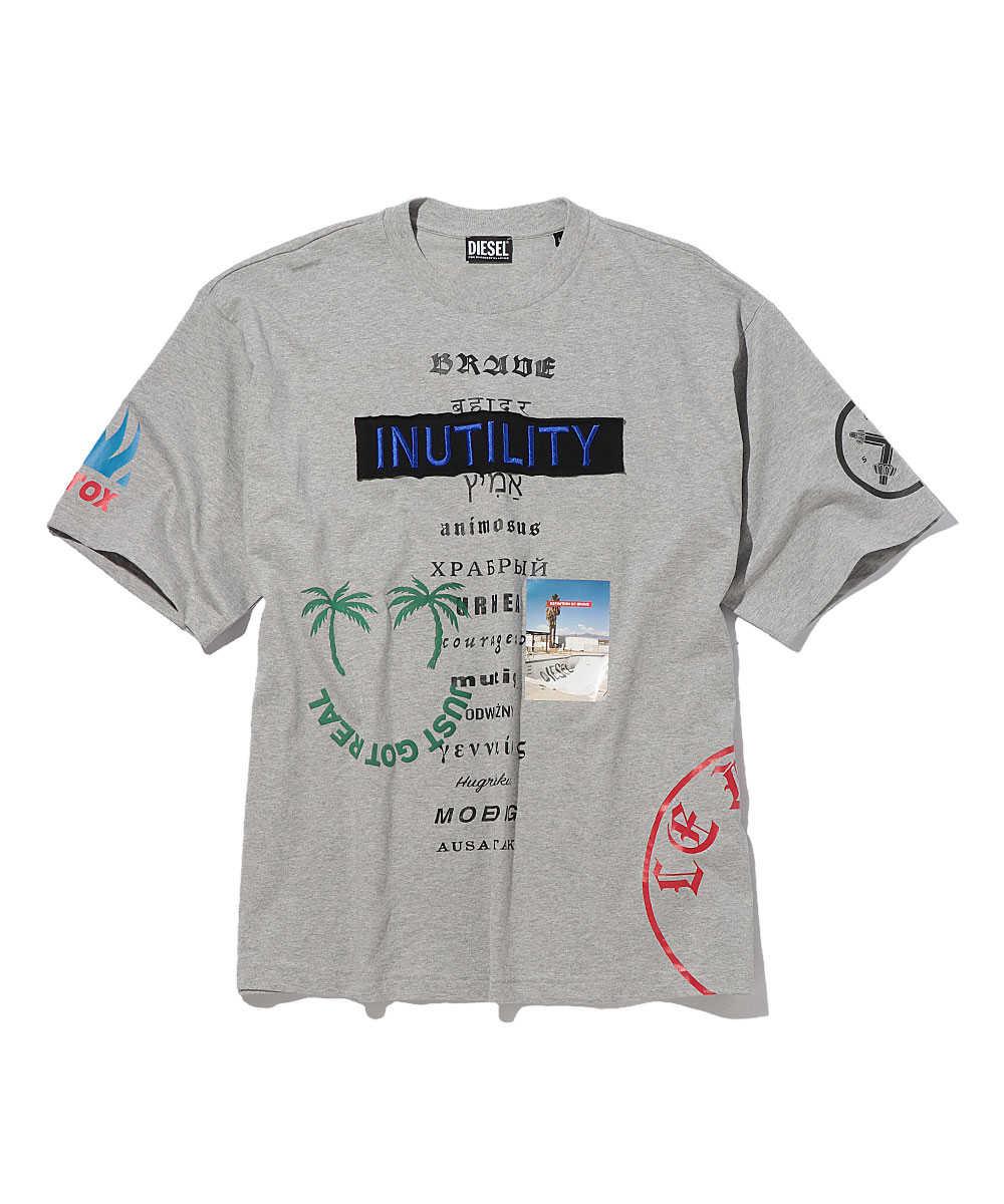 グラフィッククルーネックTシャツ