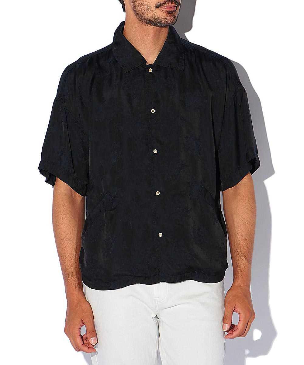 キュプラジャガード半袖シャツ