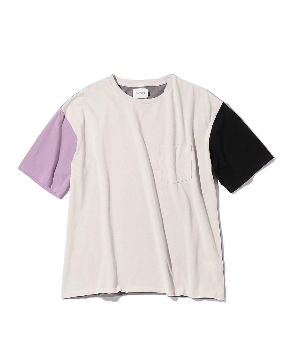 マルチカラークルーネックTシャツ