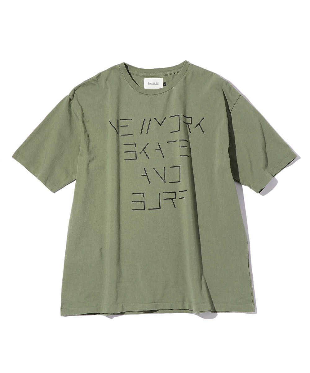 """""""ニューヨーク スケート&サーフ""""プリントクルーネックTシャツ"""
