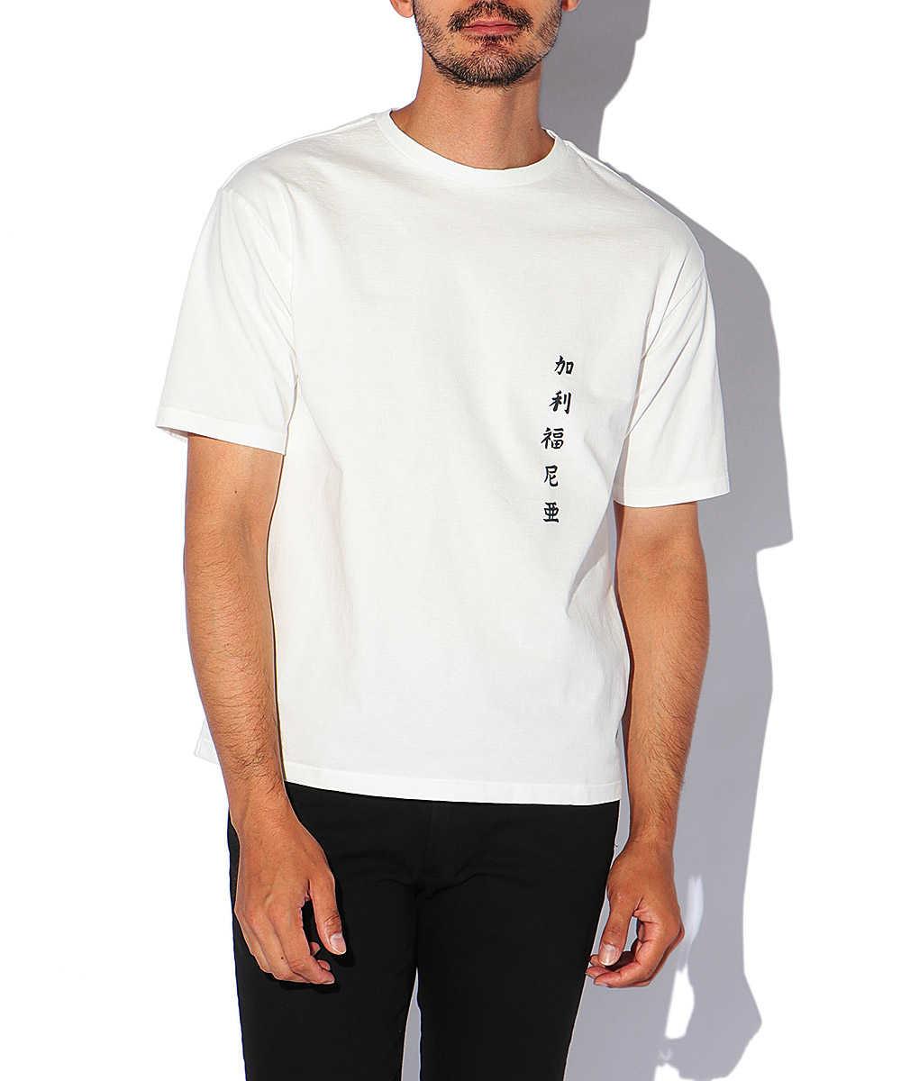 """""""カリフォルニア ウェーブ""""プリントクルーネックTシャツ"""
