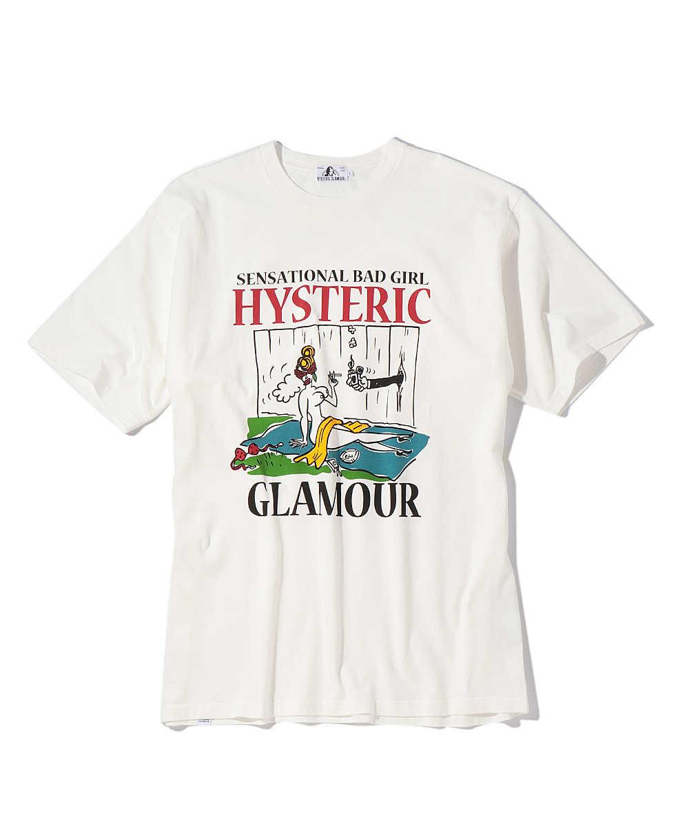 グラフィックプリントクルーネックTシャツ