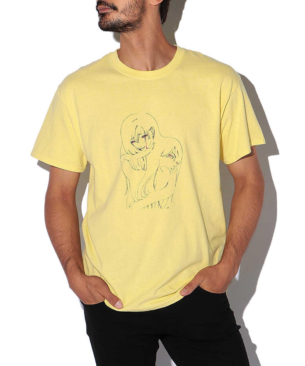 """パームストライプス×藍にいな  """"狭い愛から抜け出して""""刺繍クルーネックTシャツ"""