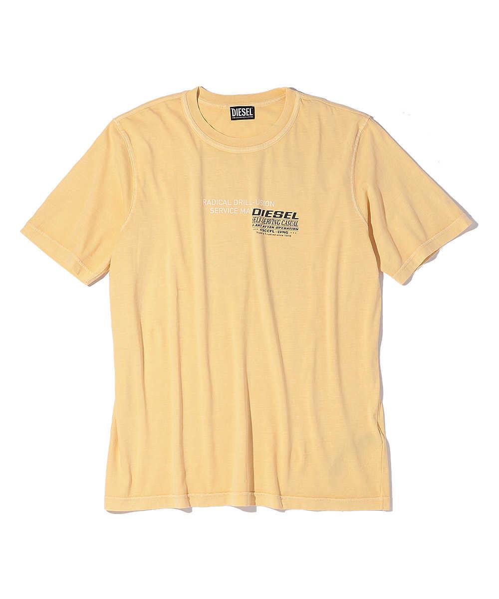 ユーズド加工バックプリントクルーネックTシャツ