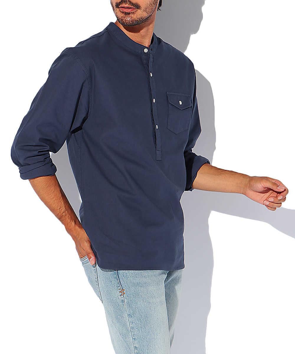 エコフレンドリーノーカラーシャツ