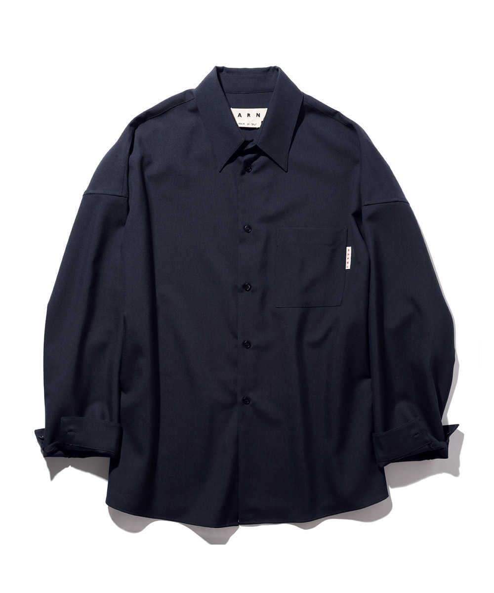 ボックスカットウールシャツ