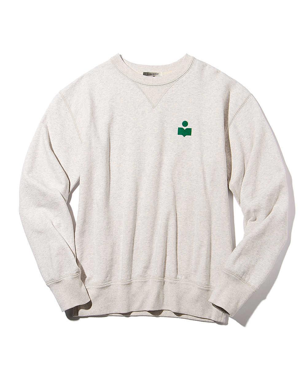 ロゴパッチコットンスウェットシャツ