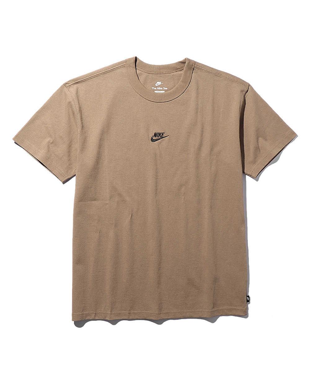 センターロゴ刺繍クルーネックTシャツ