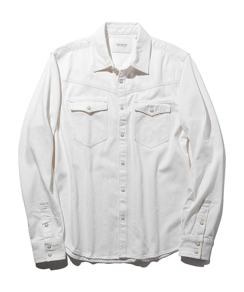 ホワイトデニムシャツ