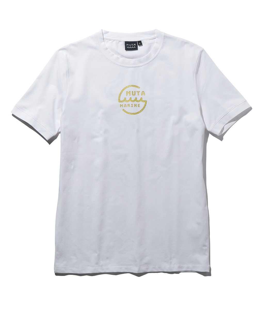 バックプリントロゴクルーネックTシャツ