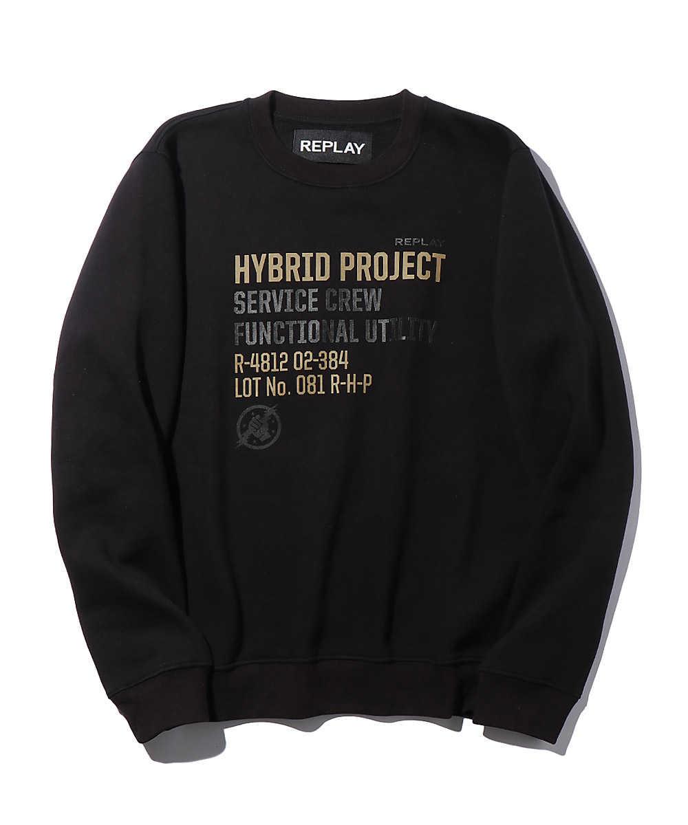 ハイブリッドプリントスウェットシャツ