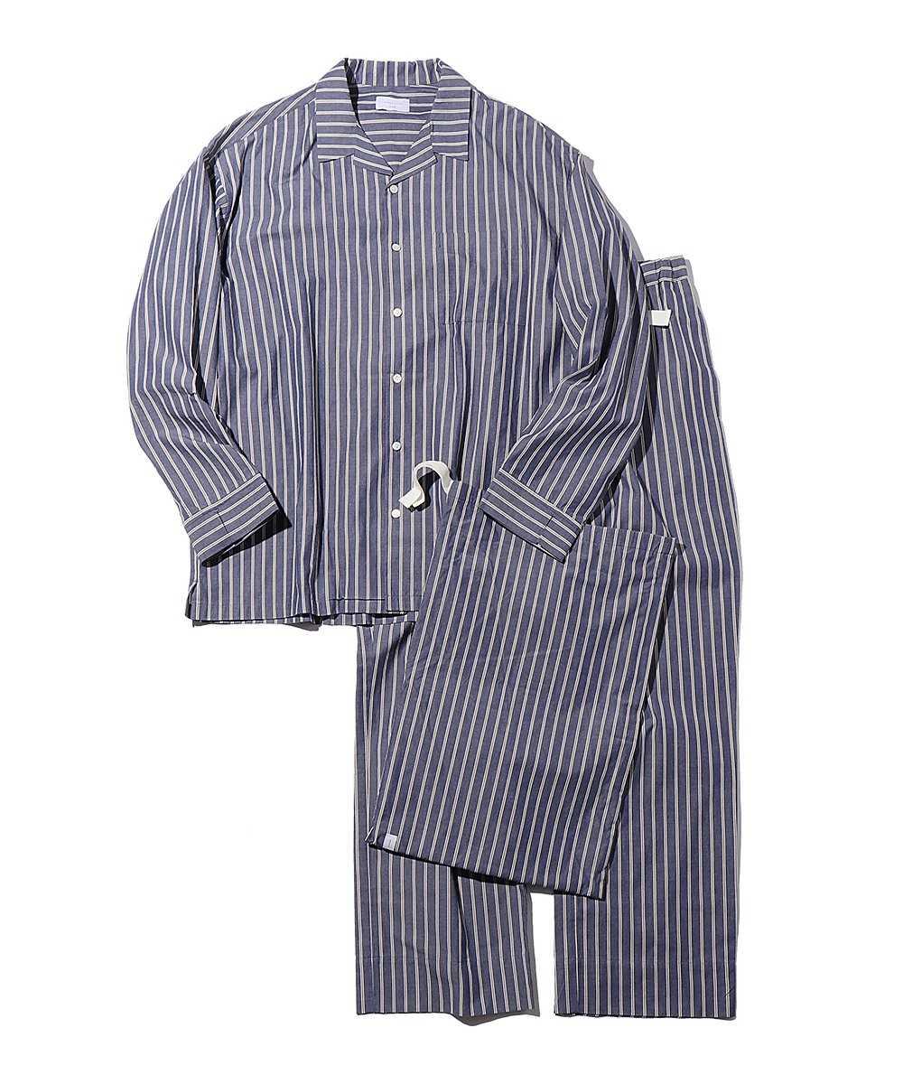 オーガニックコットンストライプシャツ&パンツ セット