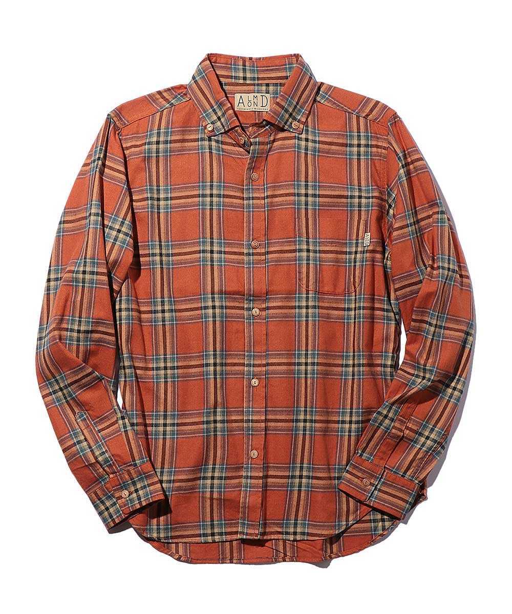オーバーサイズボタンダウンネルシャツ