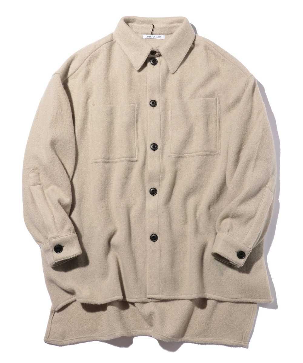 カシミヤニットシャツ