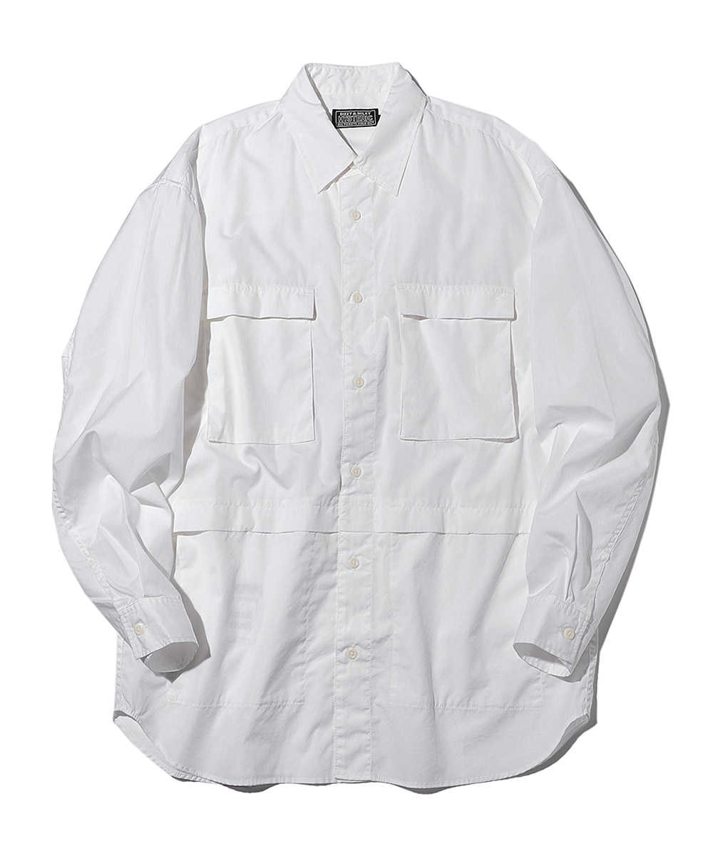 バックプリント4ポケットシャツ