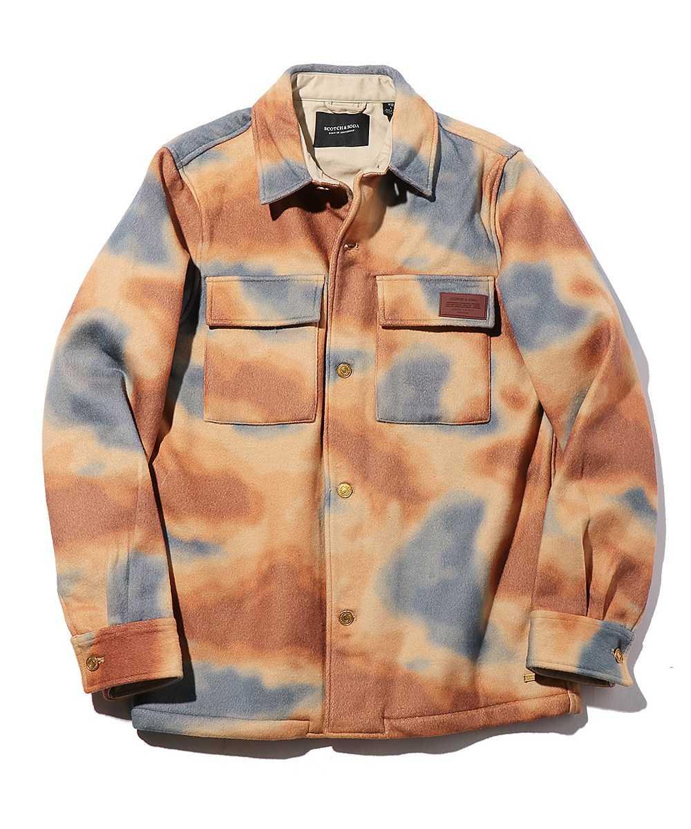 【限定販売商品】マーブルプリントフラップポケットシャツジャケット