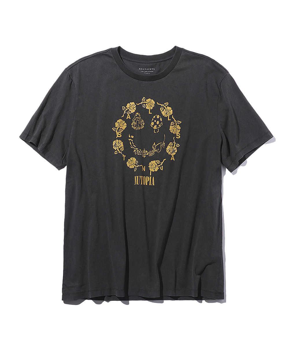 ポジープリントクルーネックTシャツ