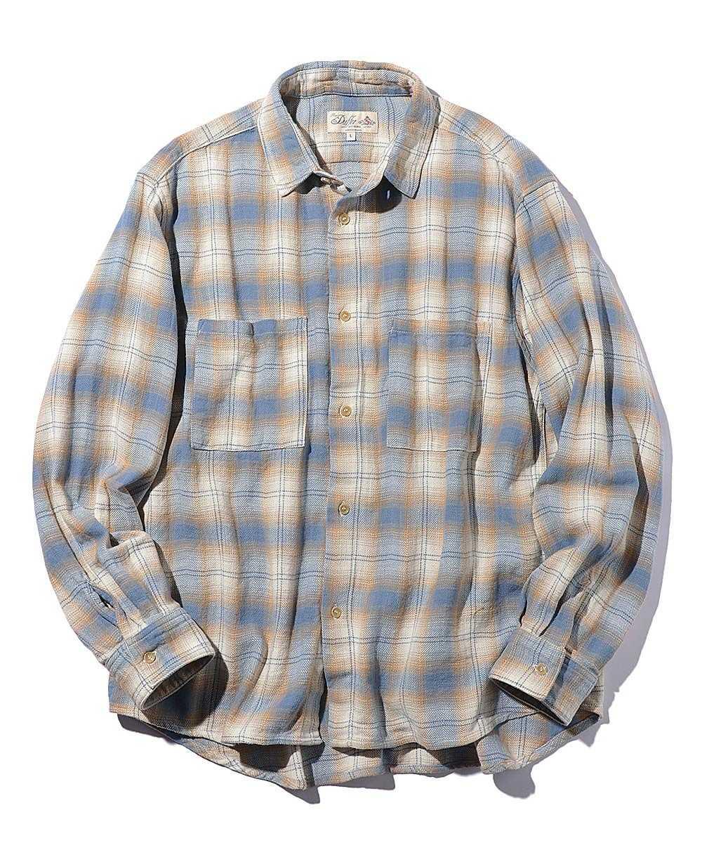 バルーンオンブレーチェックシャツ