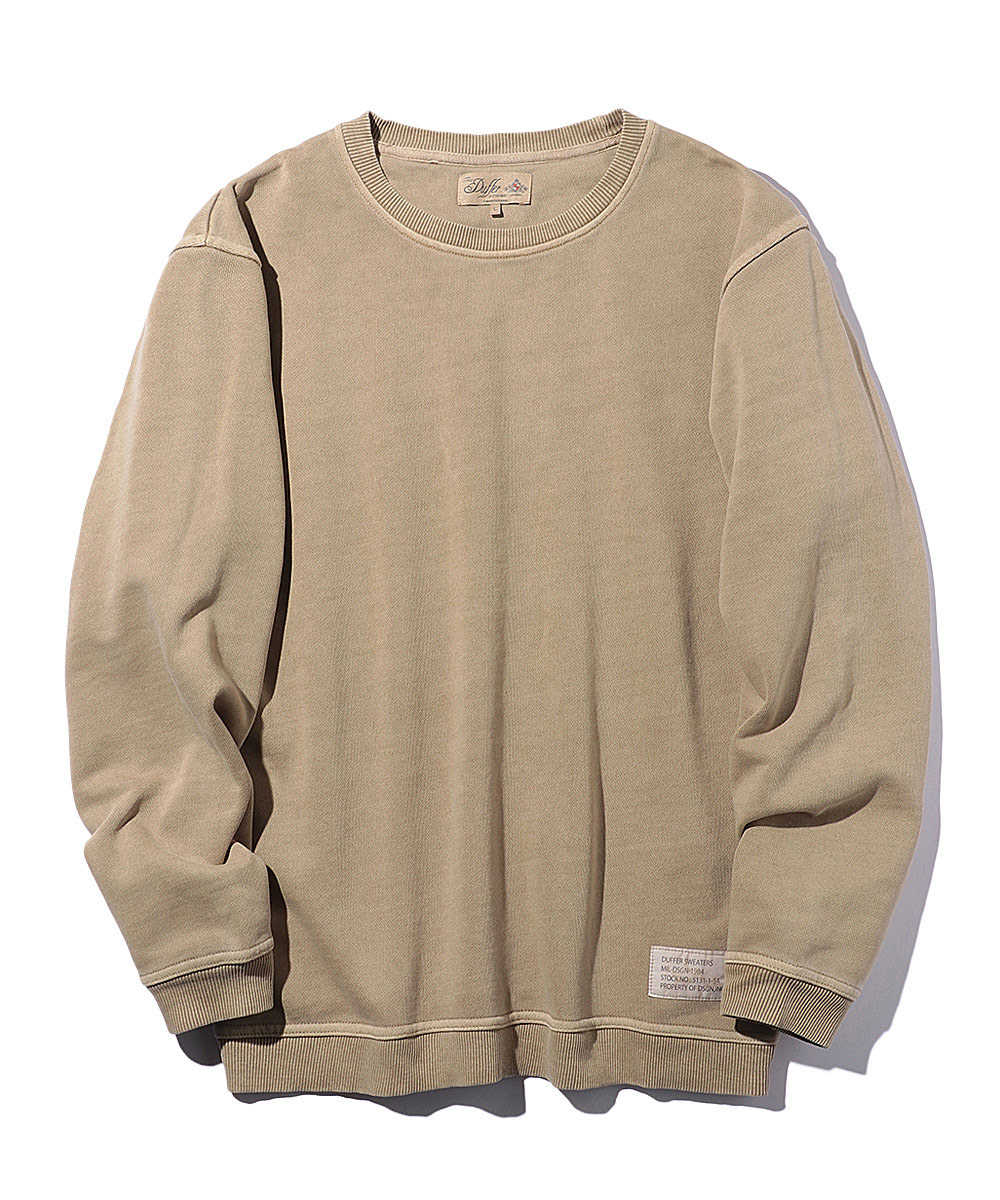 ピグメントクルーネックスウェットシャツ