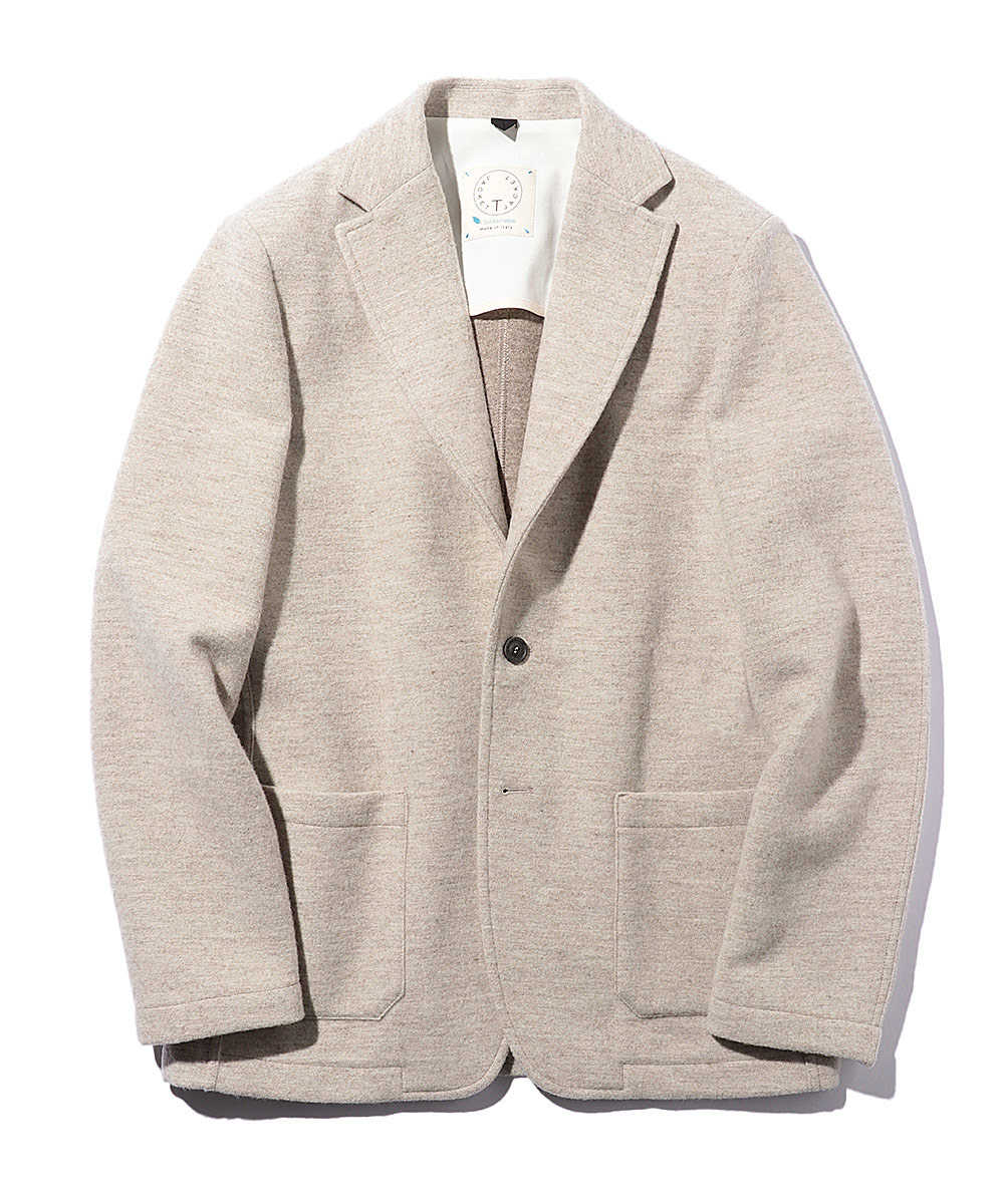 カシミヤ混サスティナブルウールジャケット