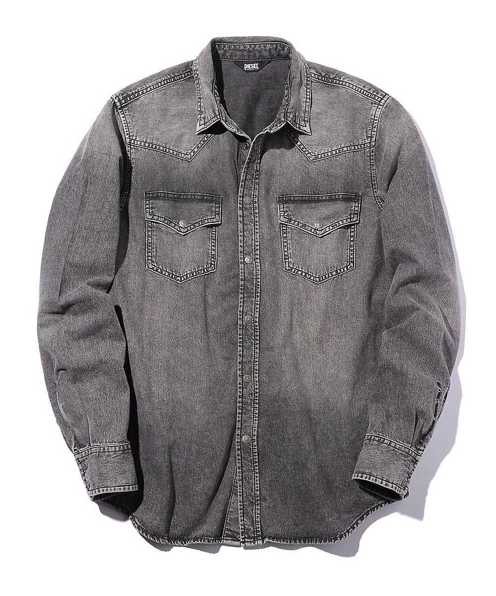 ブラックデニムウェスタンシャツ