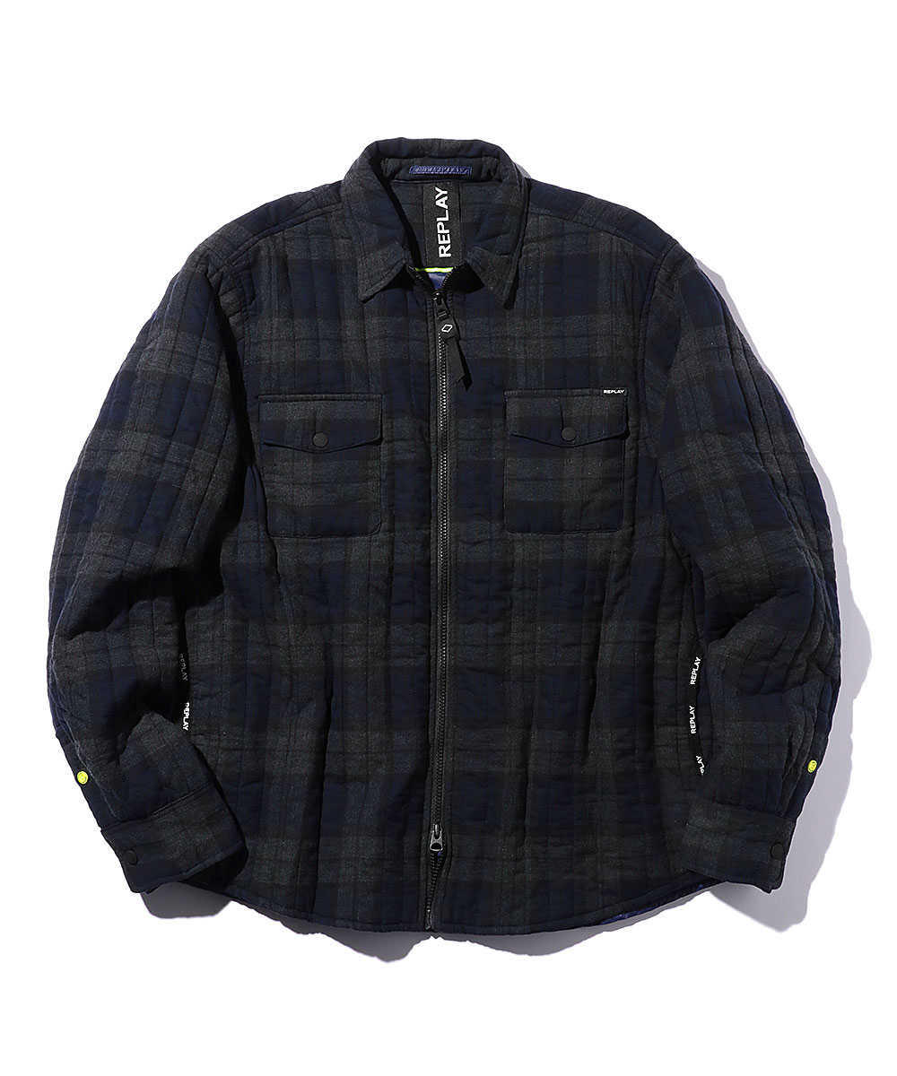 ジッパーフランネルライトジャケット