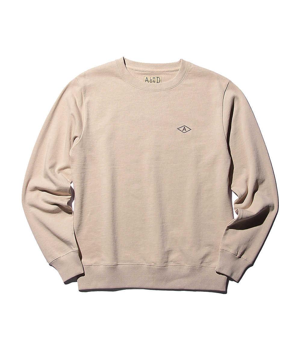 ワンポイントロゴ刺繍スウェットシャツ
