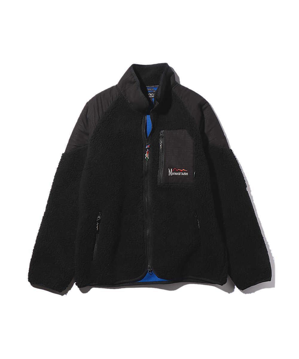 スタンドカラーボアジャケット