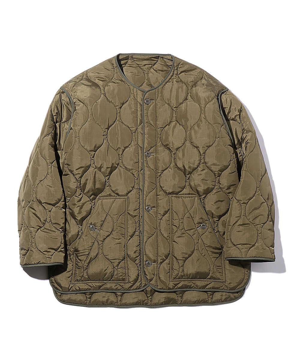 【10月下旬入荷予定】ノーカラーキルティングジャケット
