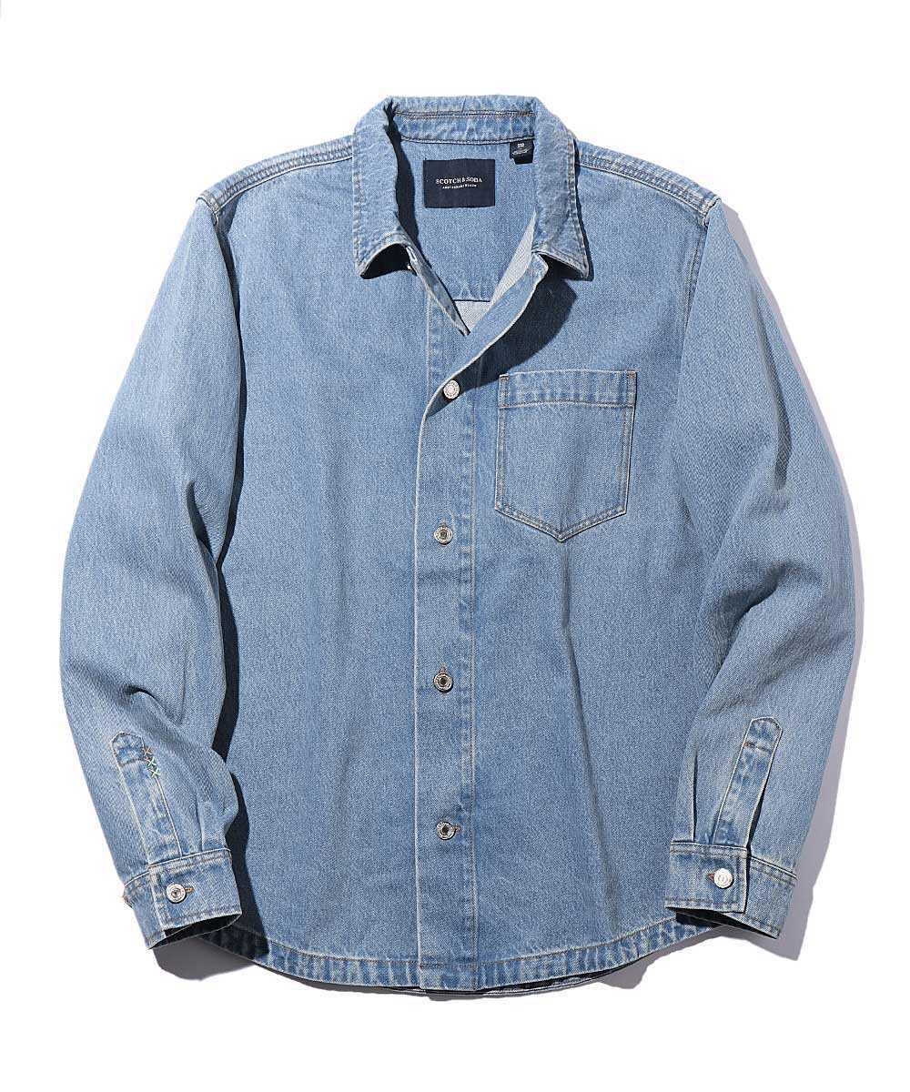 デニムオーバーシャツジャケット