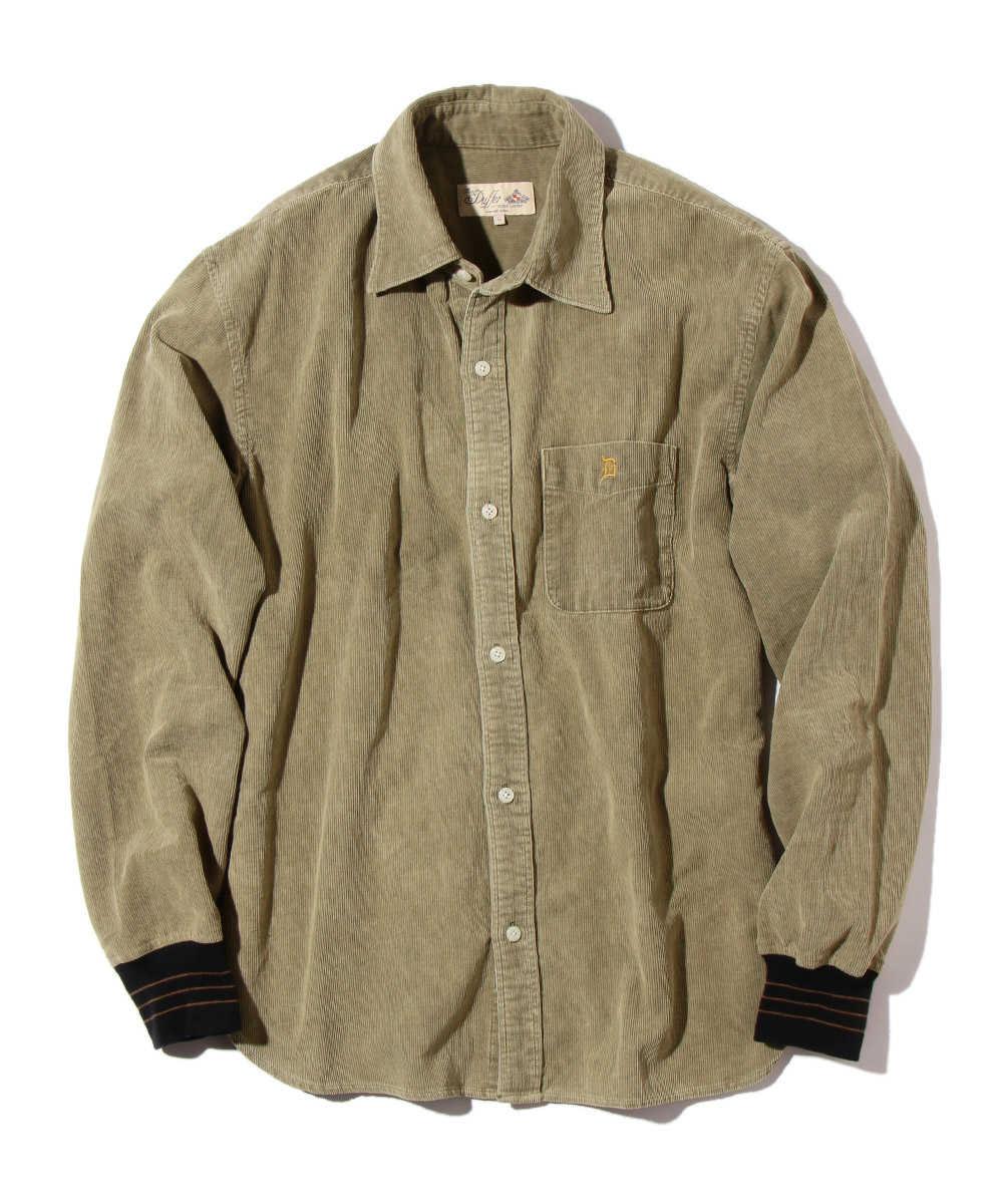 コーデュロイロゴ刺繍リブシャツ