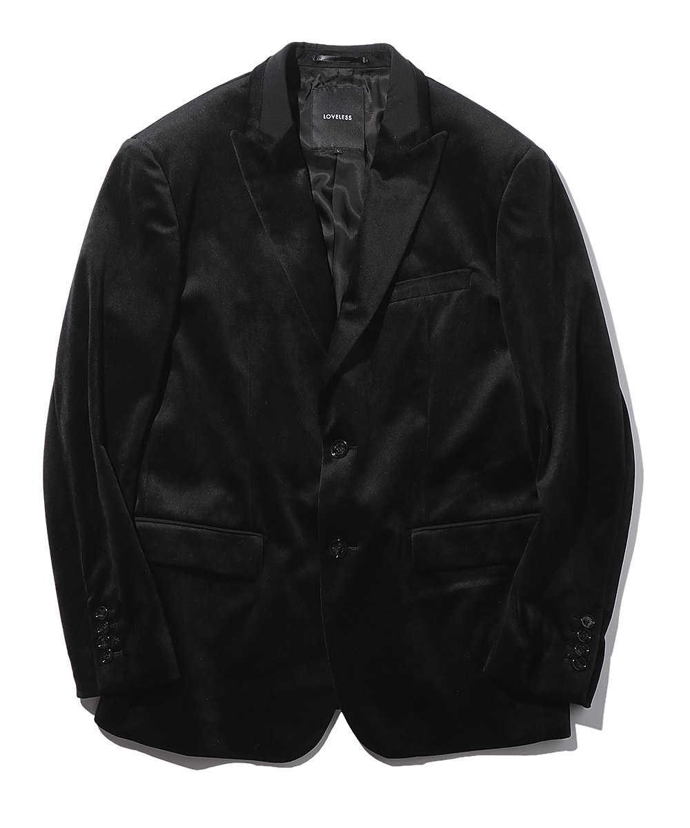 ピークドラペルベロア2Bジャケット
