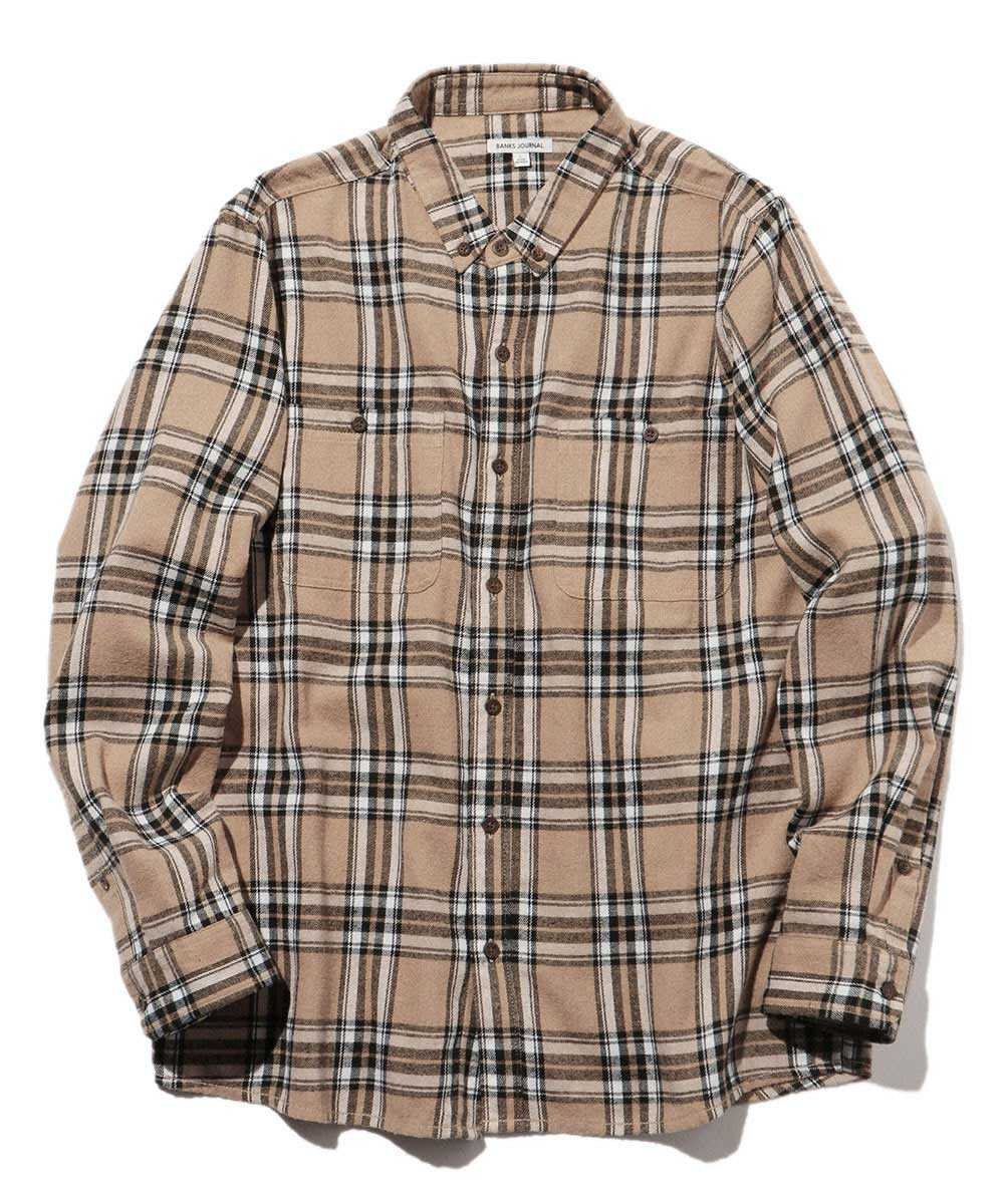 タータンチェックネルシャツ