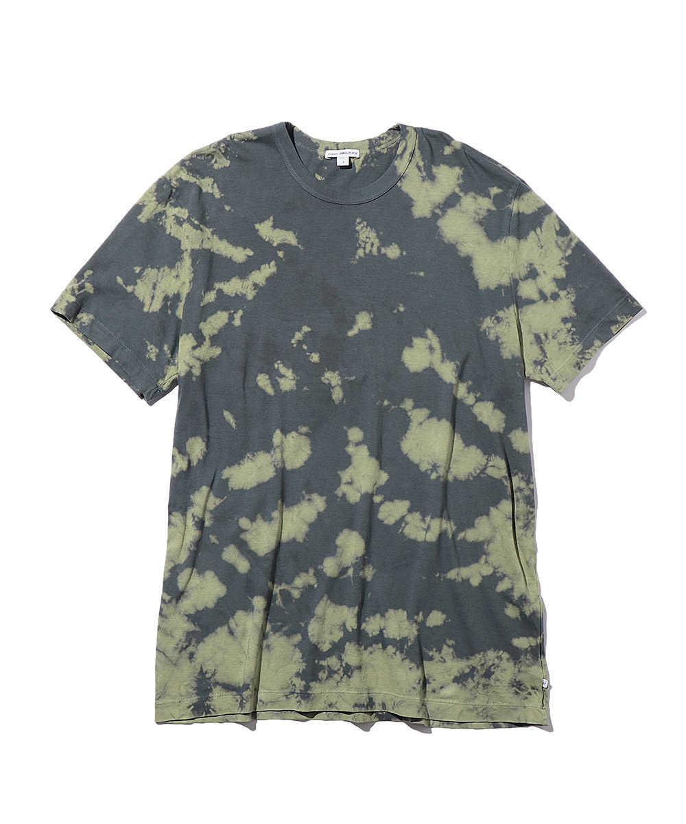 ブリーチ加工クルーネックTシャツ