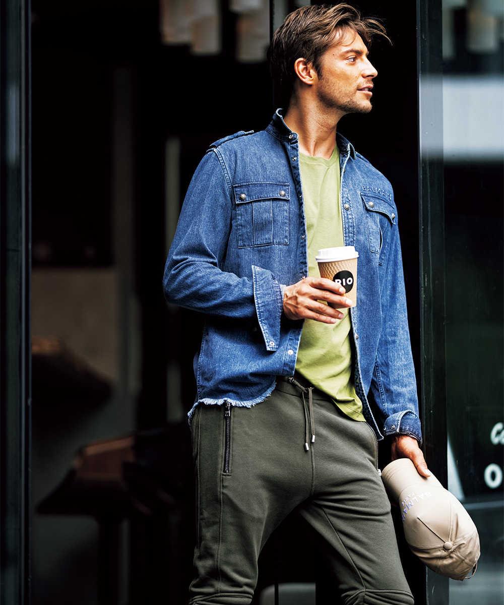 【別注・限定商品】Safari × LEONコラボ デニムシャツジャケット